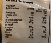 Fairtrade bananas - Nutrition facts - en