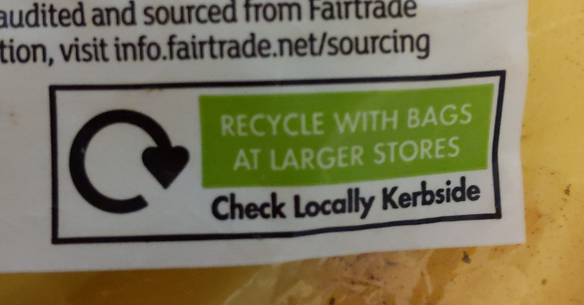 Fairtrade bananas - Recycling instructions and/or packaging information - en