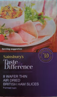 sainsbury's taste difference wafer thin air dried British ham slices - Product