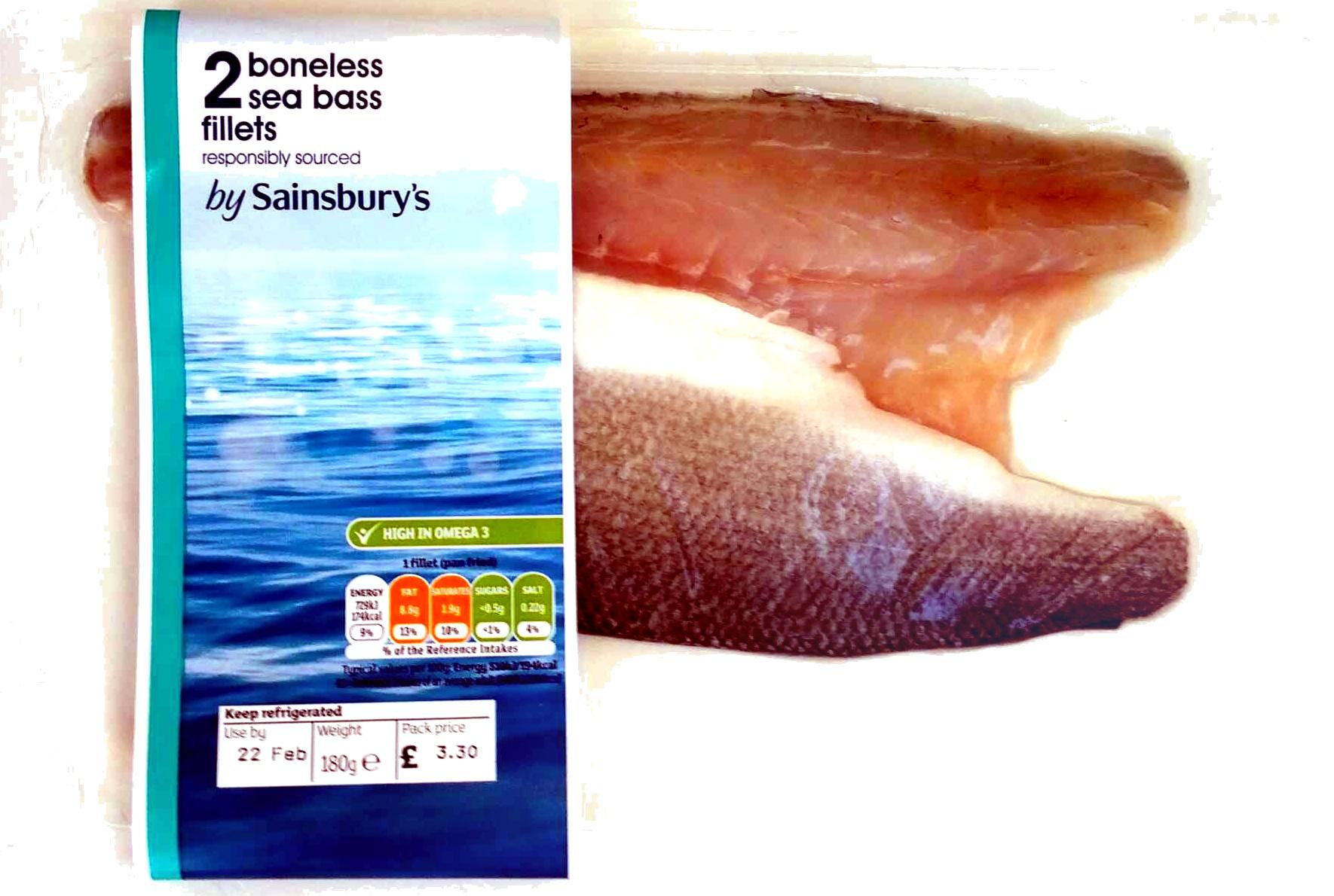 2 boneless seabass fillets - Produit