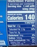 Cinnamon Rolls - Real Cinnamon - Nutrition facts - en