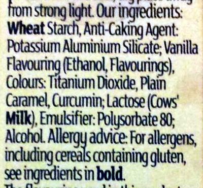 Gold edible lustre - Ingrédients - en