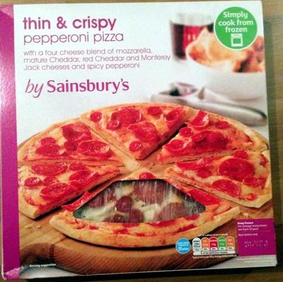 thin & crispy pepperoni pizza - Product