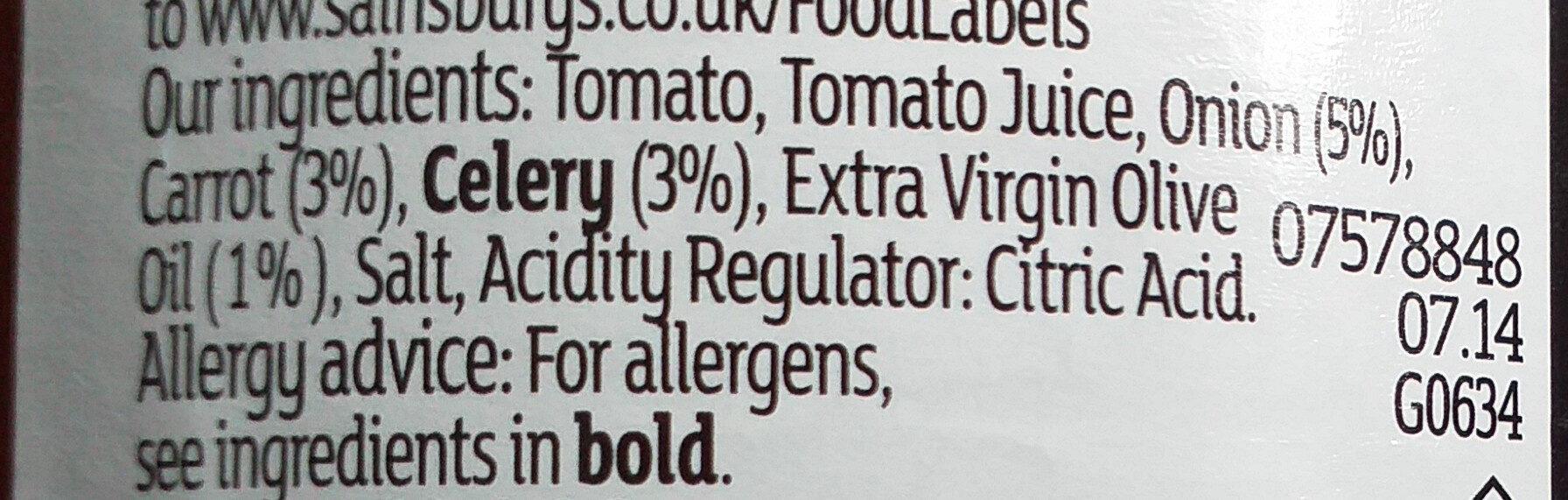 Chunky Italian Passata - Ingredients