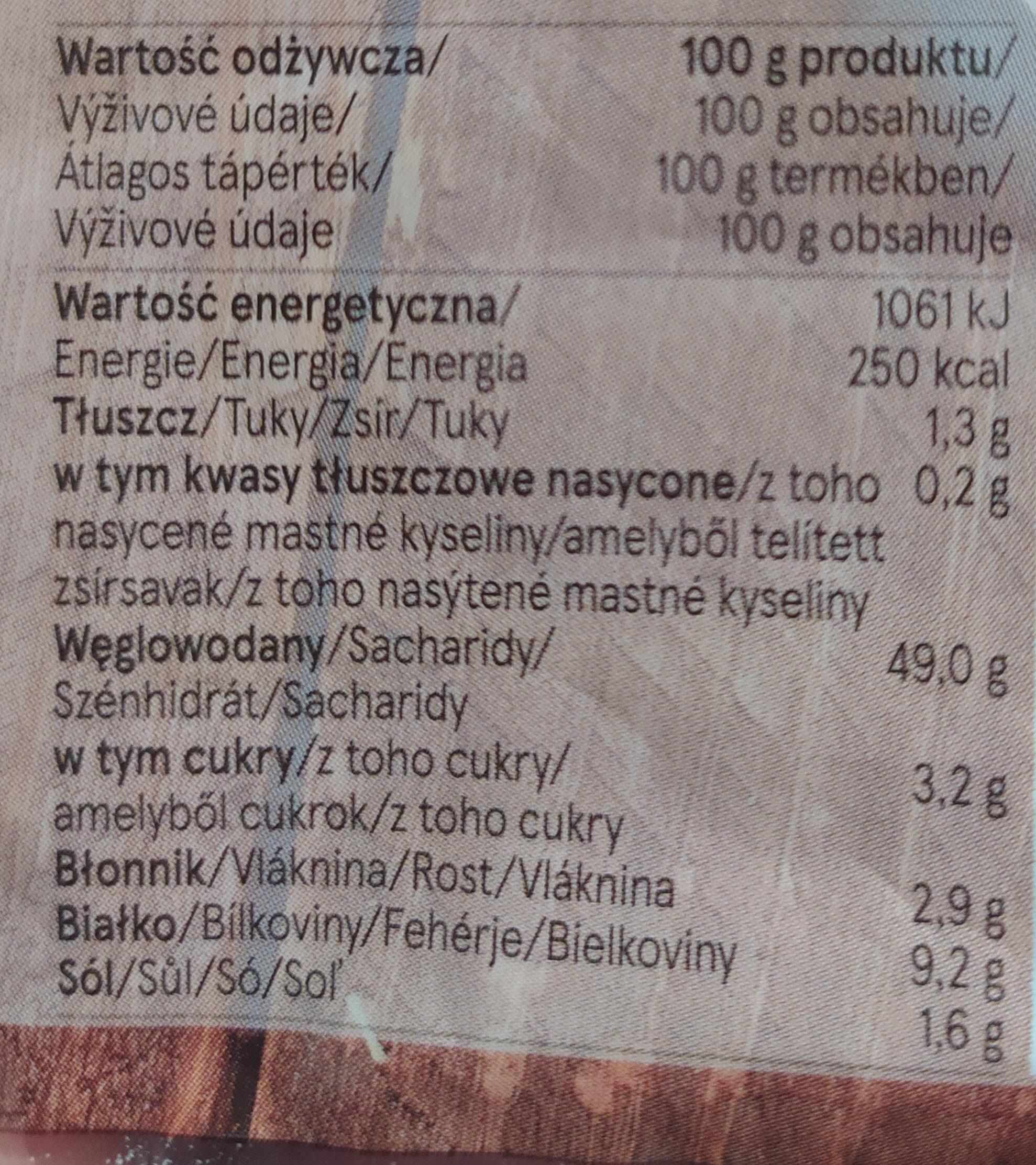 Tesco 5 Ciabatta Rolls - Informations nutritionnelles - cs