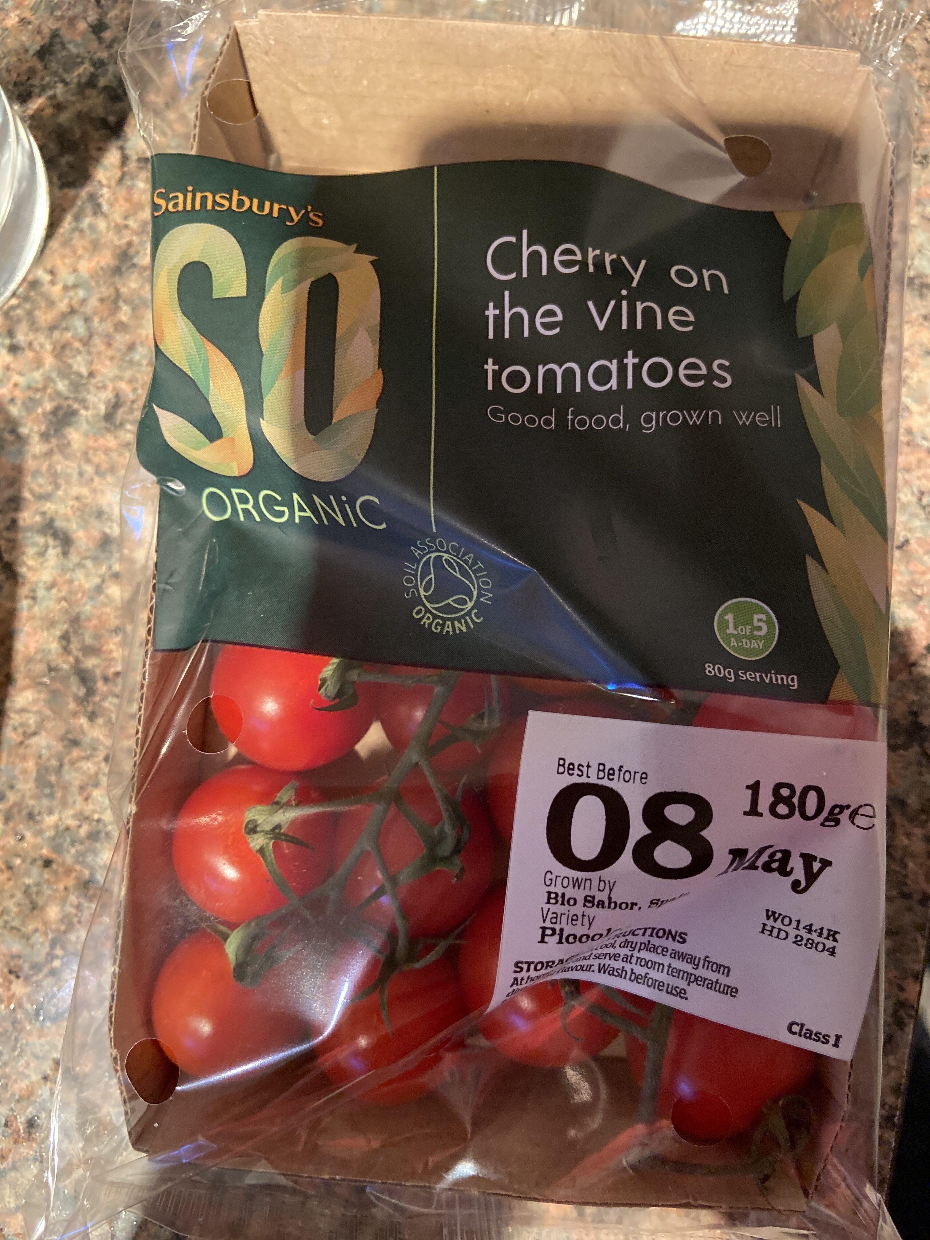 Cherry on the vine tomatoes - Produit - fr