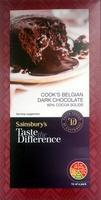 Cook's Belgian Dark Chocolate 60% cocoa solids - Product