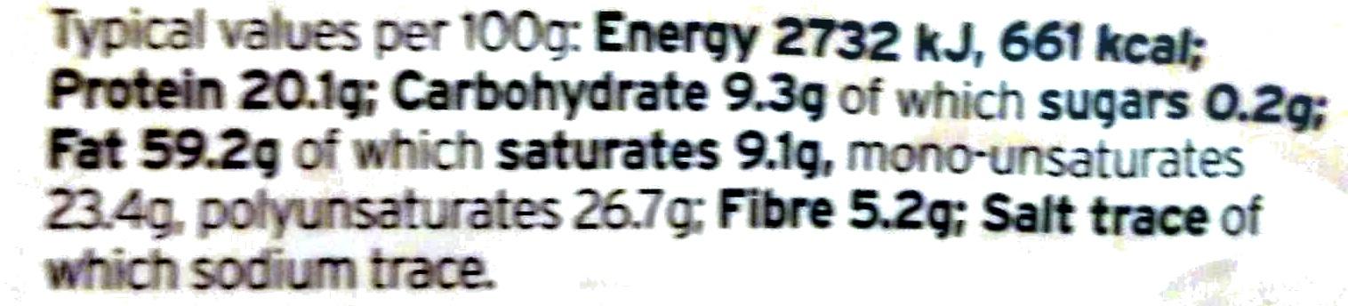 Mixed Nuts - Informations nutritionnelles - en