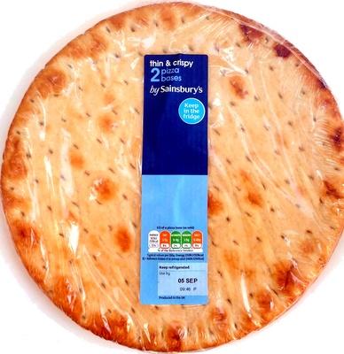 2 thin & crispy pizza bases - Produit - en