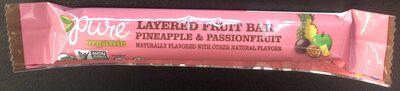 Organic layered fruit bar - Product