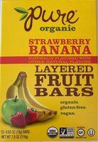 Strawberry banana layered fruit bars - Product - en