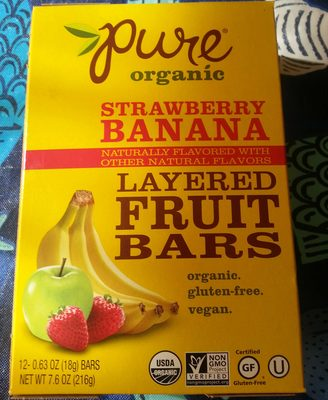 banna strawberry layered fruit bars - Product