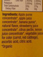 Strawberry banana layered fruit bars - Ingredients - en