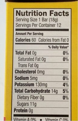 Strawberry banana layered fruit bars - Nutrition facts - en