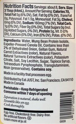 Egg - Nutrition facts - en