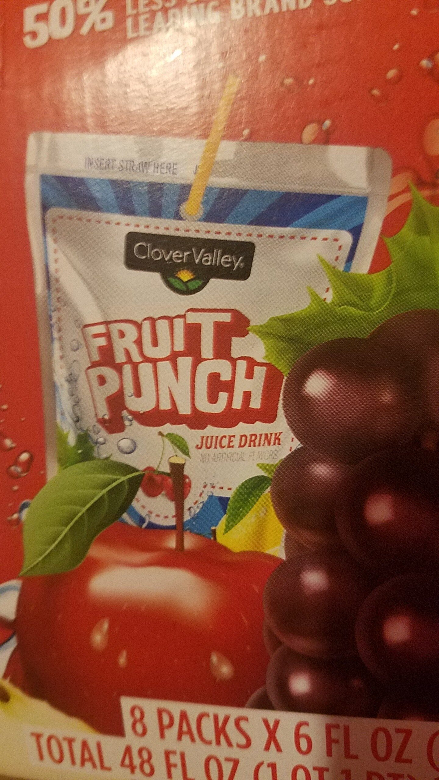 Clover Valley Fruit Punch Drink Pouches - Product - en