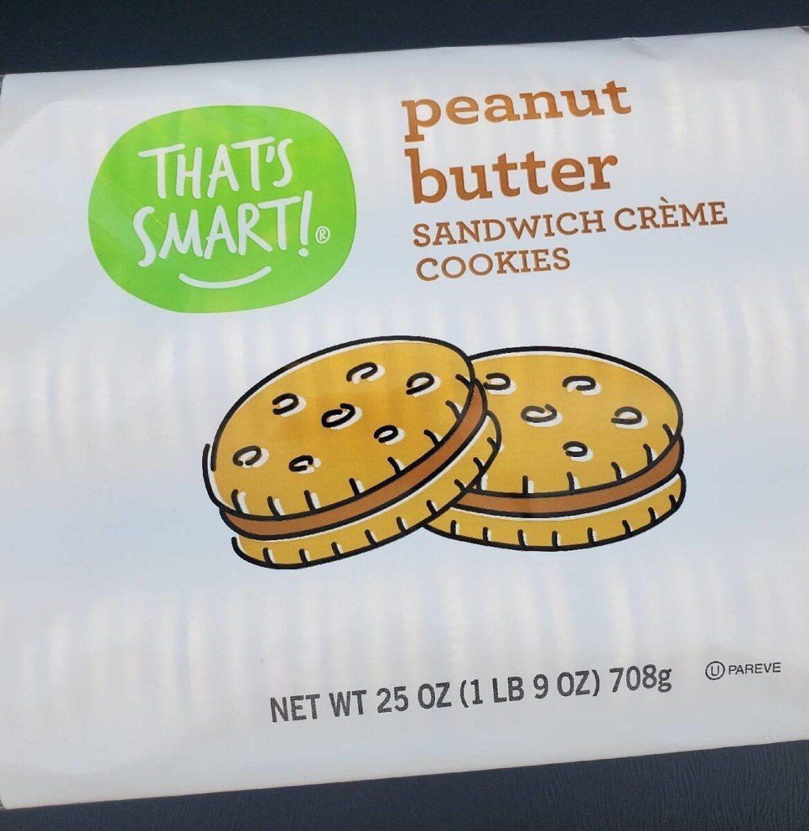 Peanut butter sandwich creme cookies - Product - en