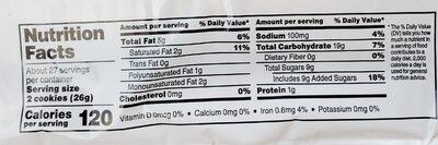 Peanut butter sandwich creme cookies - Nutrition facts - en