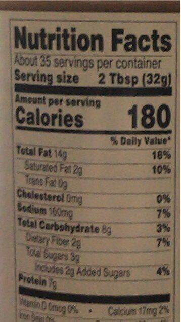 Crunchy peanut butter - Nutrition facts - en