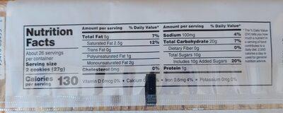 Lemon sandwich creme cookies - Nutrition facts - en