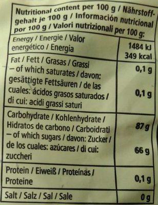 Lakridsknapper - Voedingswaarden