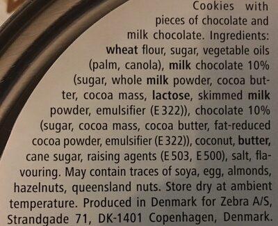 Danish chocolate chip cookies - Ingredientes - en