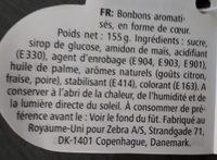 Bonbons coeurs - Ingrediënten