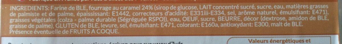 Mini beignets fourrés au caramel - Ingrédients - fr