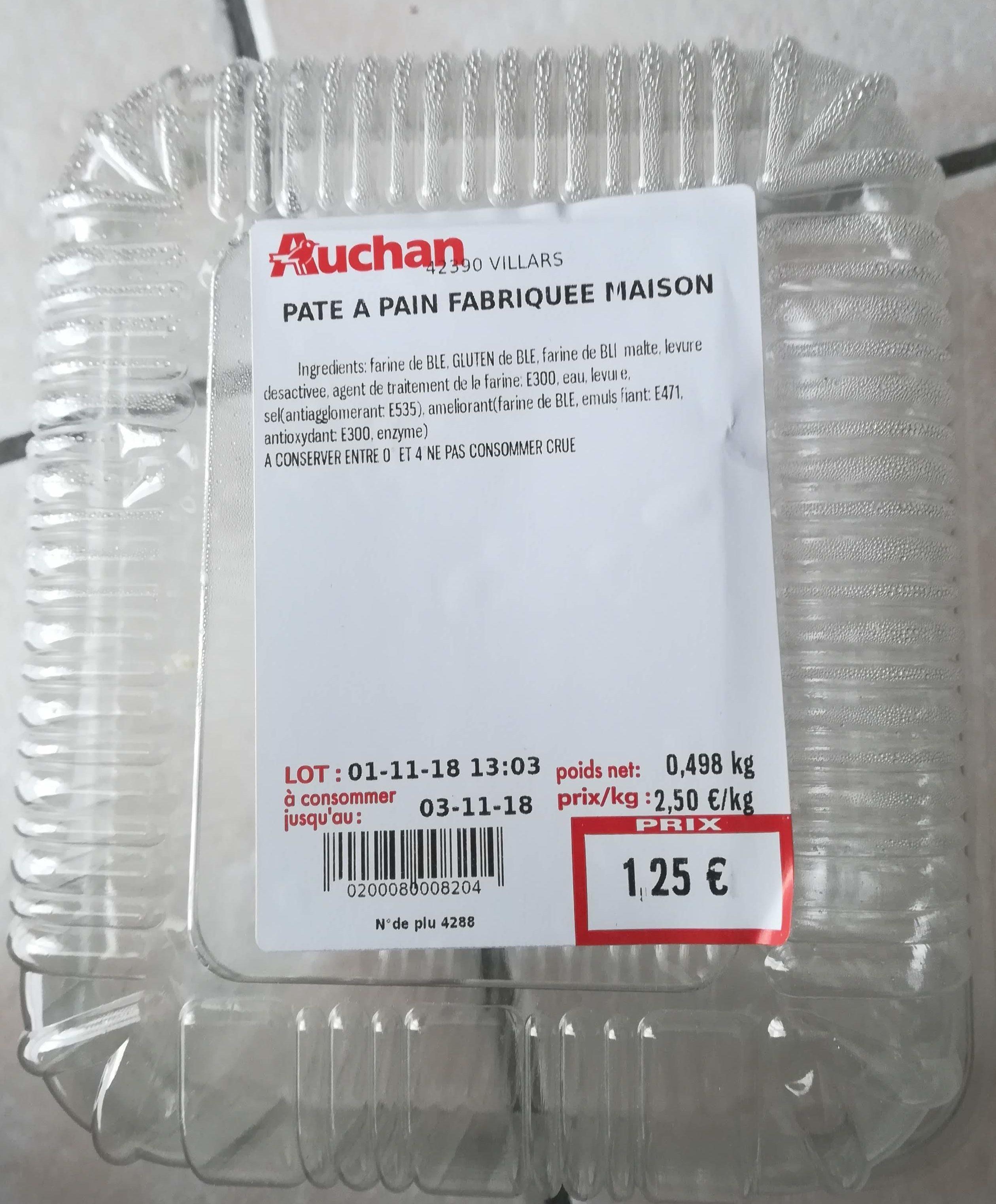Auchan pate à pain fabriquée maison - Product - fr