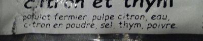 saucisse poulet - Ingrediënten - fr
