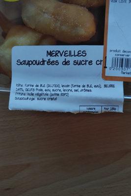 MERVEILLES saupoudrées de sucre cristal - Ingrediënten - fr