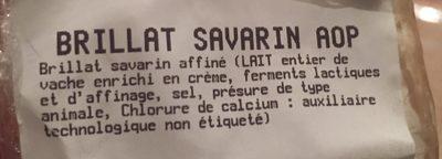Brillat savarin - Ingrediënten