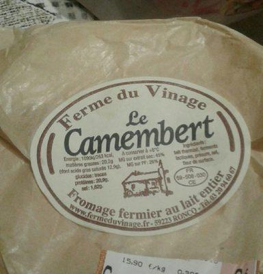 Le camembert - Produit