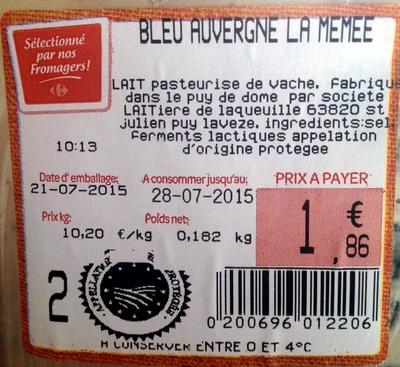 Bleu Auvergne La Mémée - Product - fr