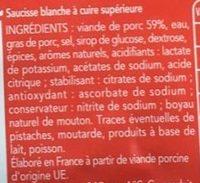 Saucisse blanche brassé - Ingredients - fr