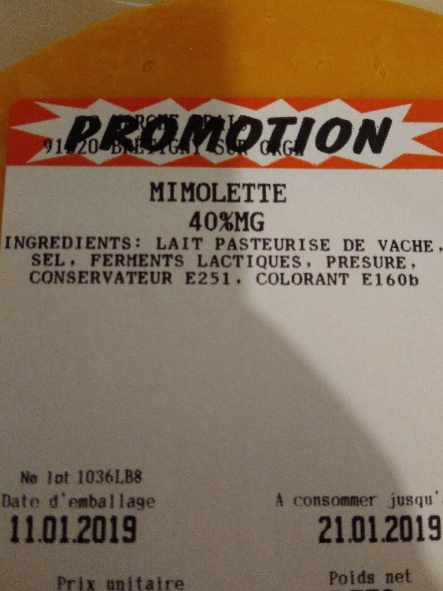 Mimolette - Ingredients