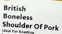 British Boneless Shoulder of Pork - Ingredients
