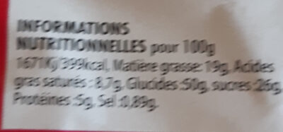 Doony's x4 - Informations nutritionnelles - fr