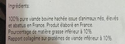 Steak Haché Bœuf - Ingrédients - fr