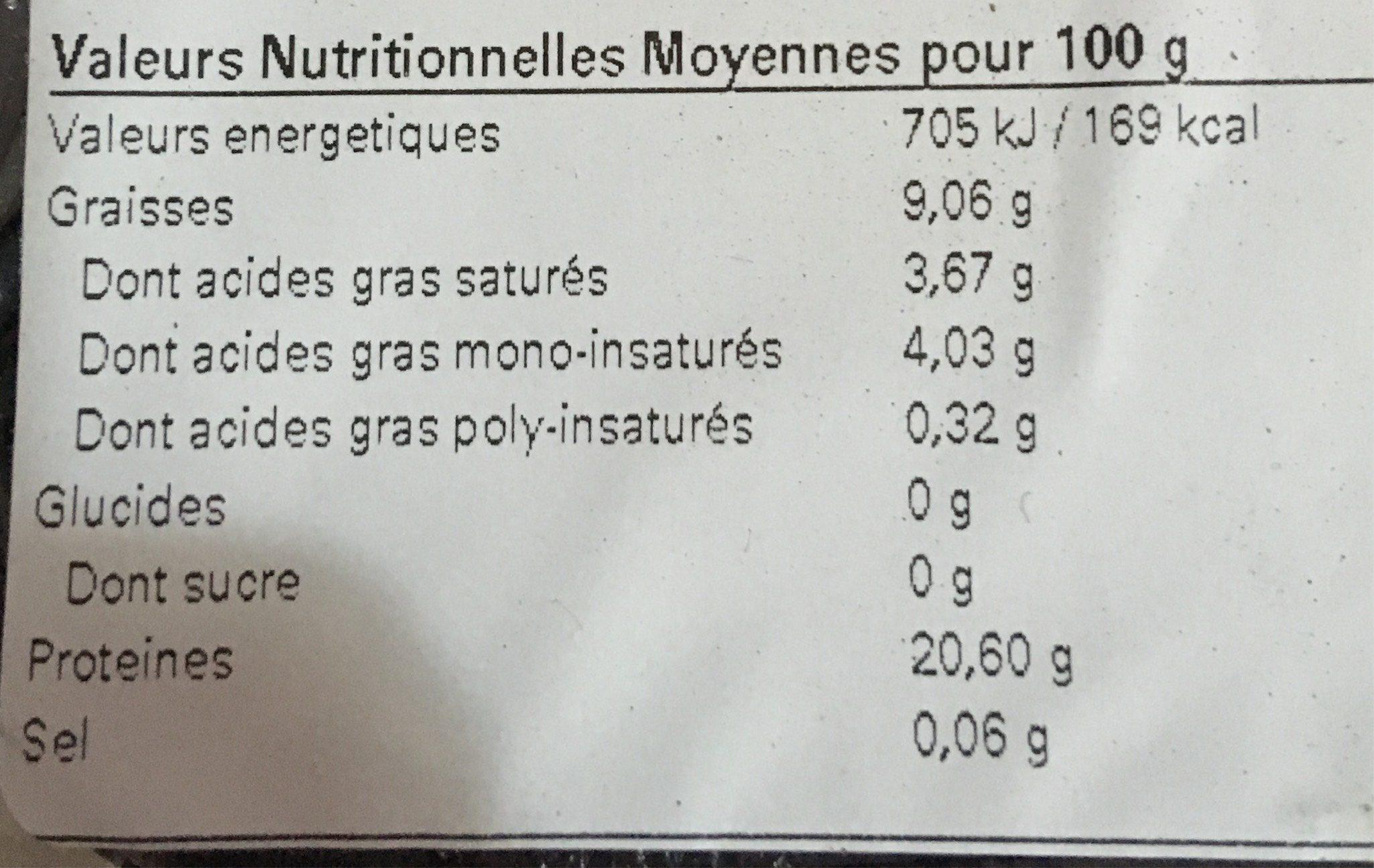 Steak Haché Bœuf - Informations nutritionnelles - fr