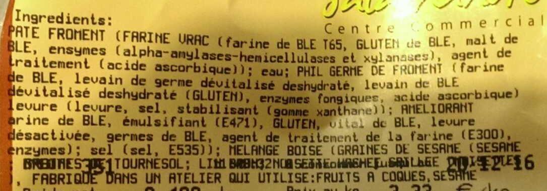 Pavé boisé - Ingredients - fr