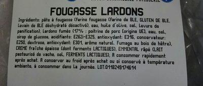 Fougasse lardons - Ingredients