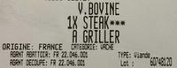 V. bovine 1x steak*** à griller - Ingredients - fr
