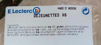 dejeunettes - Ingredients - fr