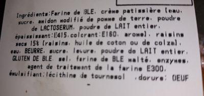 Pains aux raisins x4 - Ingrédients - fr