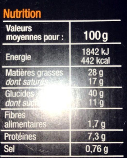 Galette des rois - Voedingswaarden - fr