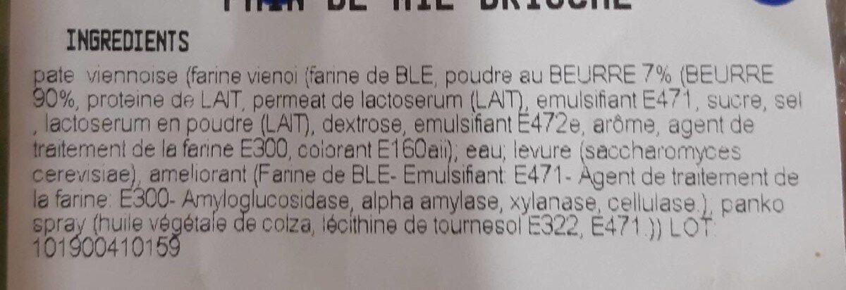 Pain de mie brioché - Ingredients - fr