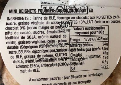 Mini beignets fourres - Ingrédients - fr