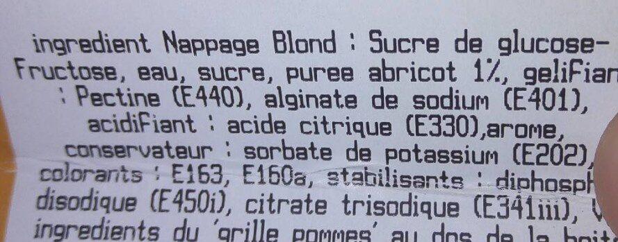 Grillé aux pommes 6 parts - Ingrédients - fr