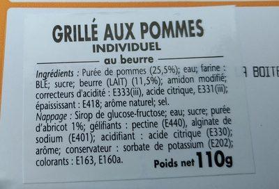 Grillés aux pommes - Ingredients - fr
